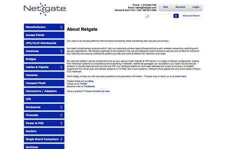 Screenshot of About Page netgate.com - About Us - captured Sept. 19, 2014