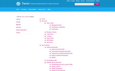 Screenshot of Site Map Page tauw.it - Tauw: Sitemap - captured Oct. 1, 2014