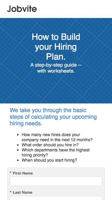 How to Build your Hiring Plan? Check.