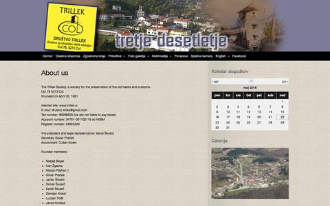 Screenshot of About Page trillek.si - About us | Trillek - captured May 22, 2016