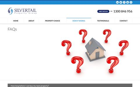 Screenshot of FAQ Page silvertail.com.au - FAQs - Silvertail Property Group - captured Oct. 2, 2018