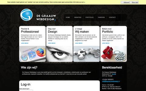 Screenshot of Login Page degraauwwebdesign.nl - De Graauw Webdesign Schaijk - Log-in - captured Sept. 30, 2014