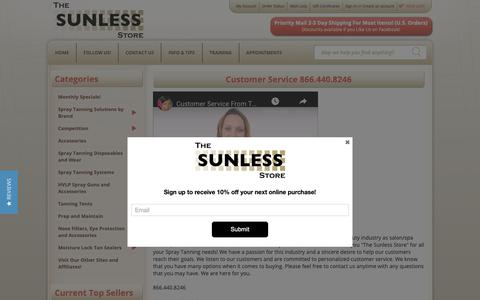 Screenshot of Privacy Page Support Page thesunlessstore.com - The Sunless Store Customer Service - captured Oct. 20, 2018