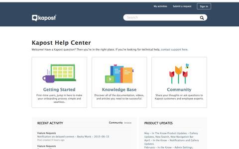 Kapost Help Center
