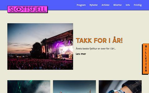 Screenshot of Press Page slottsfjell.no - News - Slottsfjell - captured Sept. 27, 2018