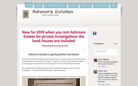 Screenshot of Home Page hauntedashmoreestates.com - Ashmore Estates - captured Nov. 29, 2018