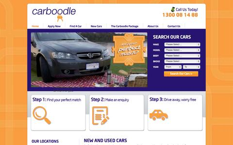 Screenshot of Home Page carboodle.com.au - Carboodle   New and Used Cars - captured Oct. 3, 2014