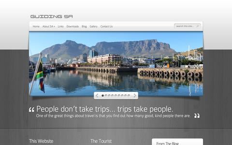 Screenshot of Home Page guidingsa.com - Guiding SA - Bringing Tourists and Tour Guides Together - captured July 25, 2018