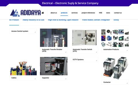 Screenshot of Products Page adidaya.id - Products – Adidaya Abadi Sentosa - captured Dec. 13, 2018