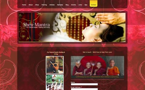 Screenshot of Contact Page shenmantra.com - Contact - Shen Mantra  for natural Health, Living & Well-Being - captured Sept. 30, 2014