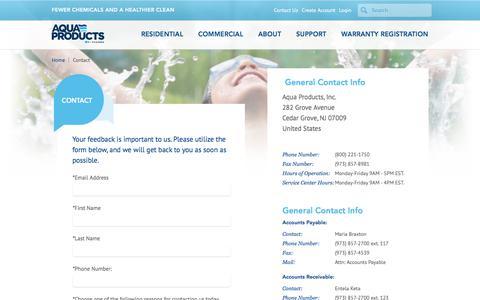 Screenshot of Contact Page aquabot.com - Contact the Aquabot Team - Aquabot - captured July 30, 2018
