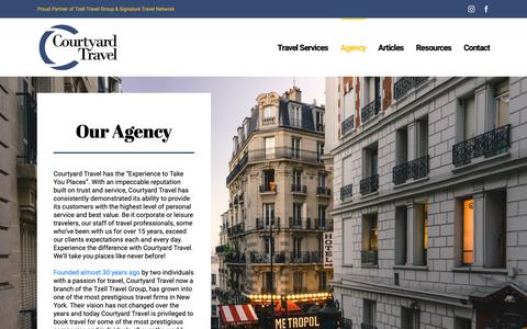 Screenshot of About Page courtyardtvl.com - Agency – Courtyard Travel - captured Sept. 29, 2018