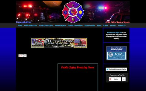 Screenshot of Home Page emergencytraffic.net - Home - Emergency Traffic - Public Safety Resource Network - captured Oct. 2, 2014