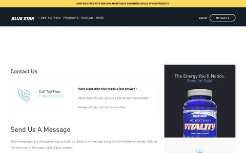 Contact | Blue Star Nutraceuticals