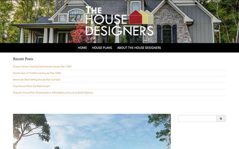 Screenshot of Blog thehousedesigners.com - The House Designers - America's best house plans - captured Nov. 10, 2016