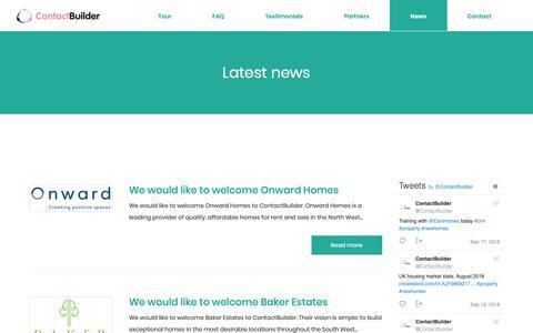 Screenshot of Press Page contact-builder.co.uk - News | ContactBuilder - captured Sept. 29, 2018