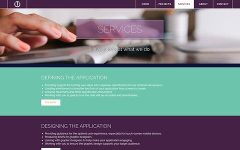 Screenshot of Services Page ouncetech.co.uk - Ounce Technology » Services - captured Oct. 7, 2014