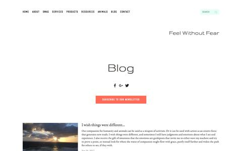 Screenshot of Blog kerrilake.com - Feel Without Fear—Blog - captured Oct. 7, 2017