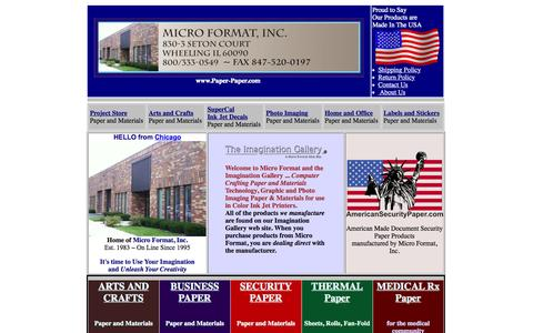 Screenshot of Home Page paper-paper.com - Ink Jet Paper Materials, Security Paper and Materials - captured Oct. 5, 2015