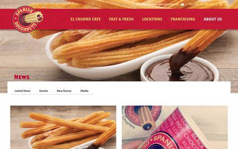 Screenshot of Press Page spanishdoughnuts.com.au - News - Spanish Doughnuts - captured Dec. 21, 2016