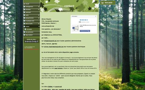 Screenshot of Contact Page arbojardin.be - contact - www.arbojardin.be - captured Sept. 30, 2014