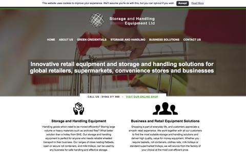 Screenshot of Home Page she-ltd.co.uk - Storage and Handling Equipment Ltd - captured Oct. 7, 2014