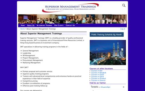 Screenshot of About Page kualalumpurtraining.com - Superior Management Courses - captured Oct. 24, 2018