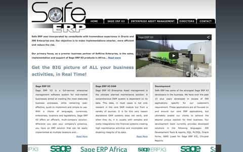 Screenshot of Home Page safeerp.co.za - Safe ERP - captured Feb. 2, 2016