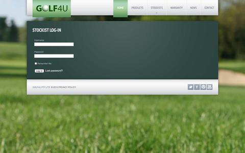 Screenshot of Login Page golf4u.com.au - Stockist Log-In - captured Oct. 2, 2014