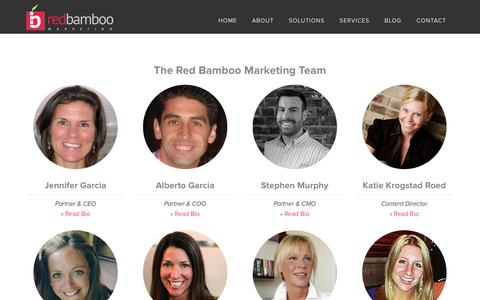 Screenshot of Team Page redbamboomarketing.com - Meet the Team at Red Bamboo Marketing - captured Dec. 29, 2015
