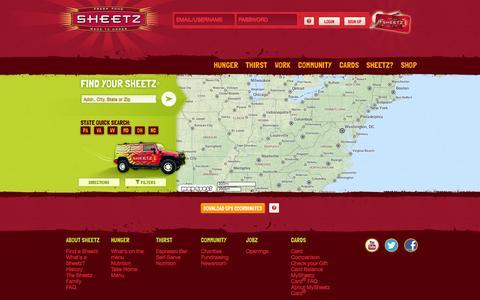 Screenshot of Locations Page sheetz.com - Sheetz // FIND A SHEETZ - captured Nov. 23, 2015