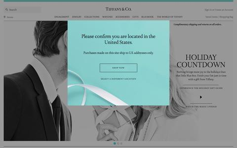Screenshot of Home Page tiffany.com - Home | Tiffany & Co. - captured Dec. 1, 2015