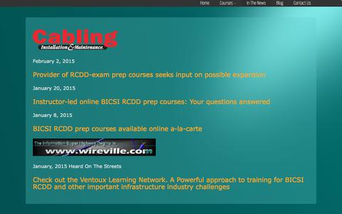 Screenshot of Press Page ventouxlearningnetwork.com - In The News | Ventoux Learning Network-Instructor led online Courses - captured Feb. 27, 2016
