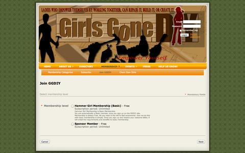 Screenshot of Signup Page girlsgonediy.com - Girls Gone DIY - Join GGDIY - captured Sept. 30, 2014