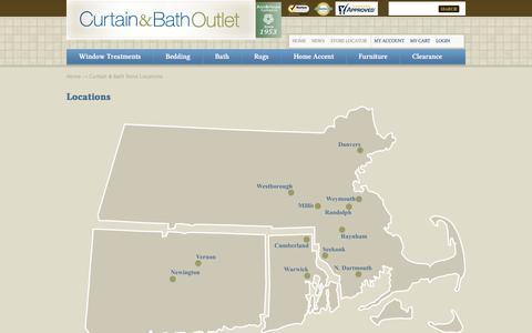 Screenshot of Locations Page curtainandbathoutlet.com - Curtain & Bath Store Locations  | Curtain & Bath Outlet - captured June 28, 2017