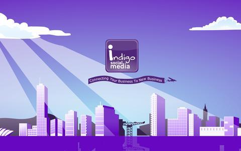 Screenshot of Home Page indigosocialmedia.co.uk - Indigo Social Media | Indigo Social Media - captured Sept. 30, 2014