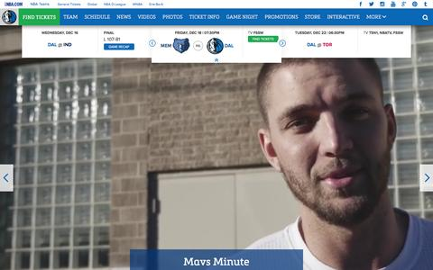 Screenshot of Home Page mavs.com - Home - Official Website of the Dallas Mavericks - captured Dec. 18, 2015
