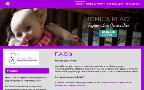 Screenshot of FAQ Page monicaplace.ca - F.A.Q.'s – Monica Place - captured Oct. 20, 2018