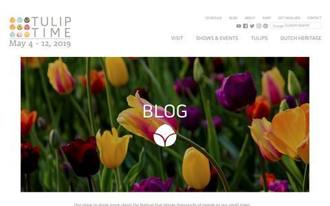Screenshot of Blog tuliptime.com - Blog :: Tulip Time, May 4–12, 2019 — Holland, Michigan - captured Oct. 20, 2018