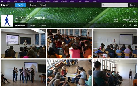 Screenshot of Flickr Page flickr.com - Flickr: AIESEC Suceava's Photostream - captured Oct. 27, 2014