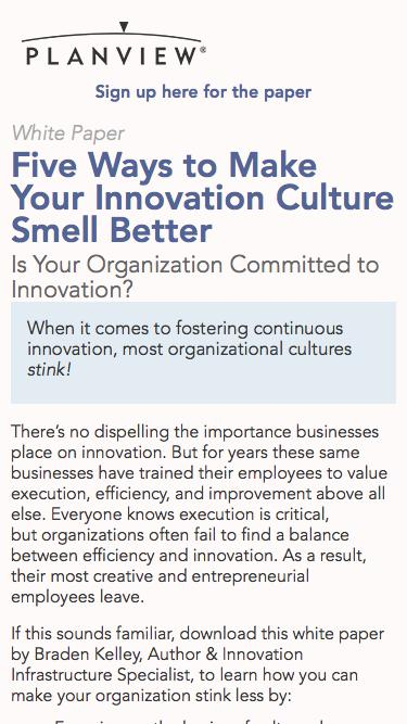 Five Ways to Make Your Innovation Culture Smell Better   Planview