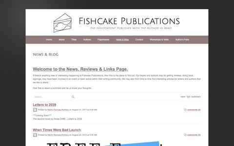 Screenshot of Blog fishcakepublications.com - News & Blog - captured Aug. 14, 2018