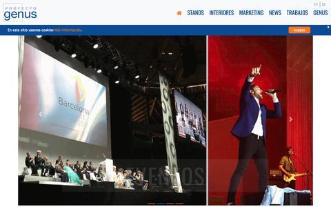 Screenshot of Home Page proyectogenus.com - PROYECTO GENUS - captured Nov. 11, 2018