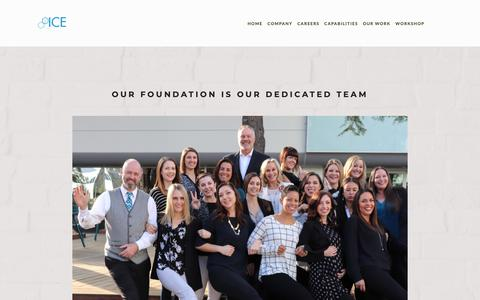 Screenshot of Team Page icesd.com - Meet the Team — INNOVATIVE COMMERCIAL ENVIRONMENTS - captured Feb. 15, 2019