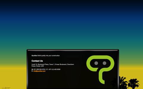 Screenshot of Home Page qualitaz.com - Company Name - captured Sept. 30, 2014