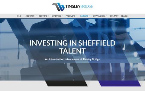 Screenshot of Jobs Page tinsleybridge.co.uk - Investing in Engineering - A Tinsley Bridge Commitment - captured Oct. 27, 2017