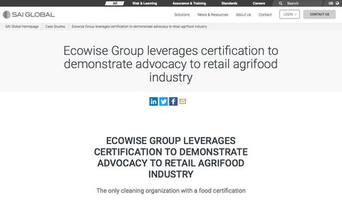 Screenshot of Case Studies Page saiglobal.com - retail agrifood, assurance, ISO 9001:2008, ISO22000 - SAI Global - captured Dec. 12, 2019