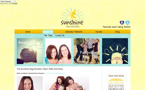 Screenshot of Team Page sunshineeggdonors.com - Egg Donation Team | Sunshine Egg Donors - captured Oct. 7, 2014