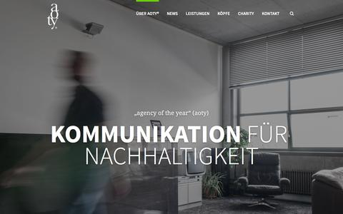 Screenshot of Home Page aoty.de - aoty® GmbH - captured Feb. 6, 2016