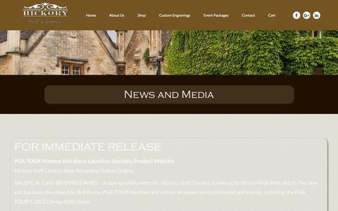Screenshot of Press Page hickorygolfclassics.com - News and Media - Hickory Golf Classics - captured Aug. 5, 2017